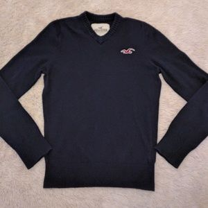 Hollister black V-neck pullover sweater sz Small